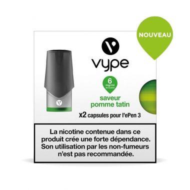 Pods Vype ePen 3  - Saveur Pomme Tatin (2 niveaux de nicotine)