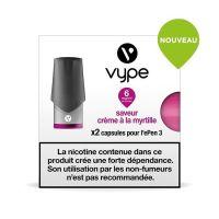 Pods Vype ePen 3 - Saveur Crème à la myrtille (2 niveaux de nicotine)