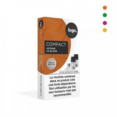 Pods Logic Compact INTENSE aux sels de nicotine (4 arômes)