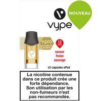 Capsules ePod Saveur Fraise sauvage sels de nicotine(2 niveaux de nicotine)