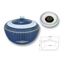 Pot à tabac porcelaine & bambou CHACOM CC-600 BL