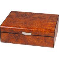 Cave cigares loupe d'orme bois mat - Ref : 218600