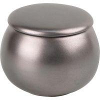 Pot à tabac rond noir / marron - Réf : 89899