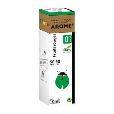 Conceptarôme - E-liquide fruits rouges 10ml (4 niveaux de nicotine)
