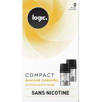 Pods Logic Compact Banane caramel 0,6,12mg