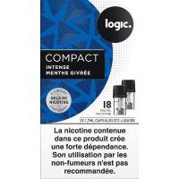 Pods Logic Compact menthe givrée aux sels de nicotine (4 arômes)