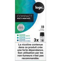 Pods Logic Compact Multi pack menthe aux sels de nicotine