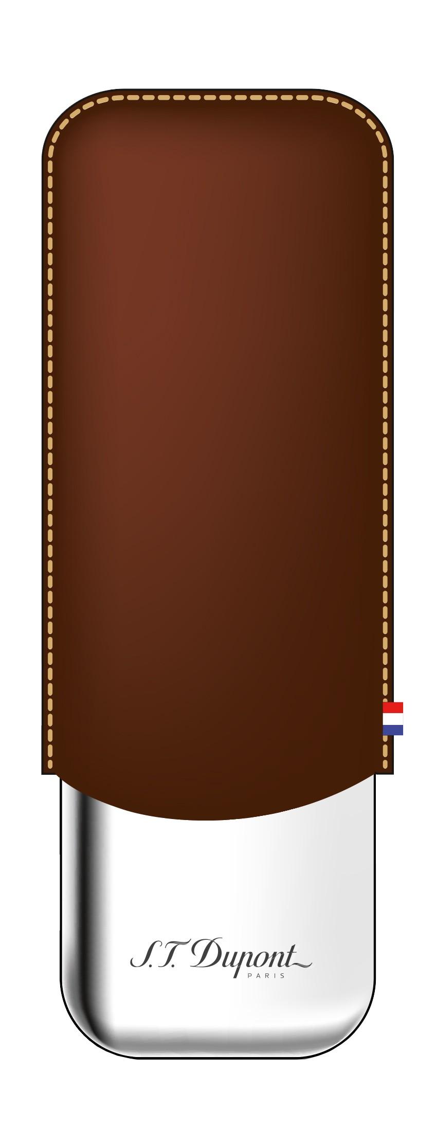 Étui à cigares S.T. Dupont marron pour 2 cigares